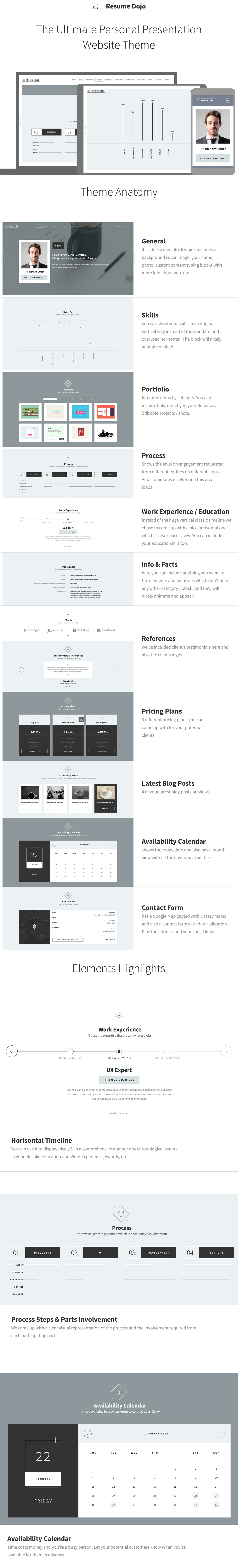 ResumeDojo - Resume and Portfolio WordPress Theme - 1